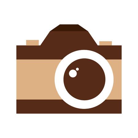 retro camera photographic isolated icon vector illustration design