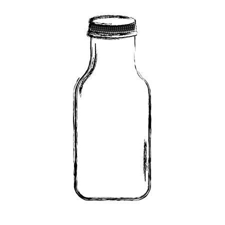 vitreous: cristal bottle isolated icon vector illustration design