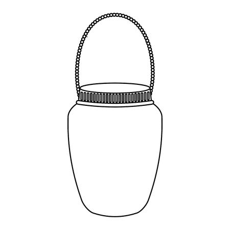 mason jar with hook isolated icon vector illustration design Banco de Imagens - 76740817