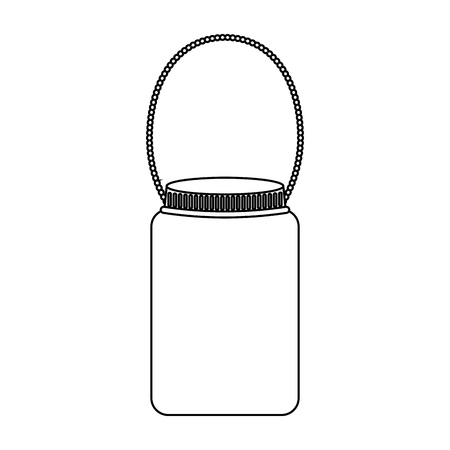 mason: mason jar with hook isolated icon vector illustration design Illustration