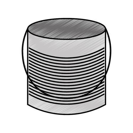 mason: metal mason jar isolated icon vector illustration design Illustration