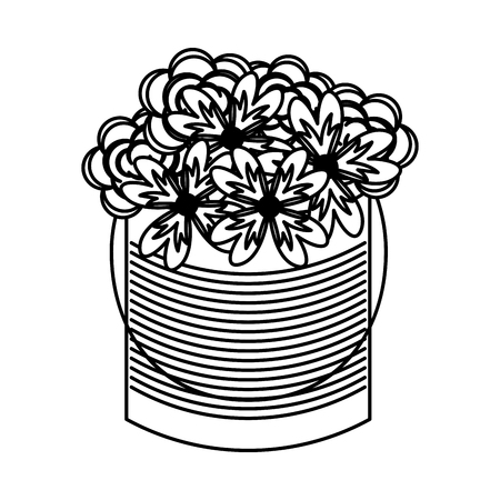 metal mason jar with flowers isolated icon vector illustration design Banco de Imagens - 76740871