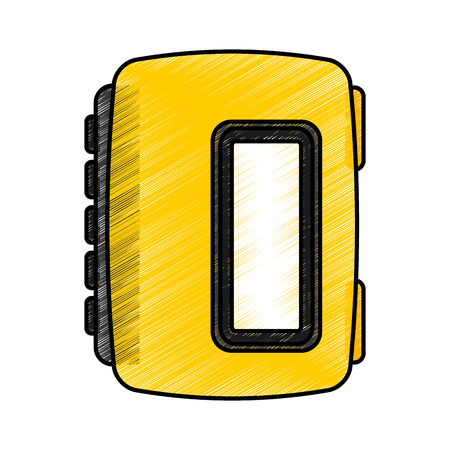 walkman cassette player icon vector illustration design