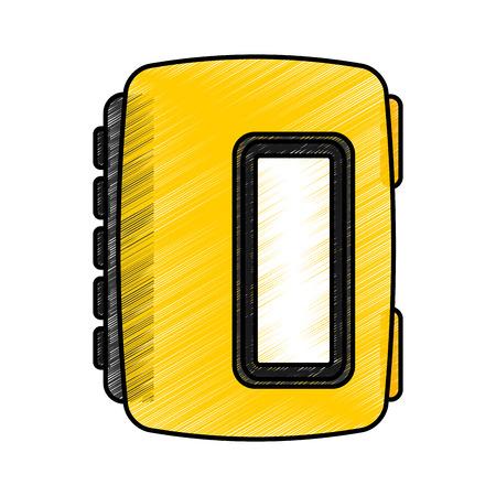 walkman cassette player icon vector illustration design