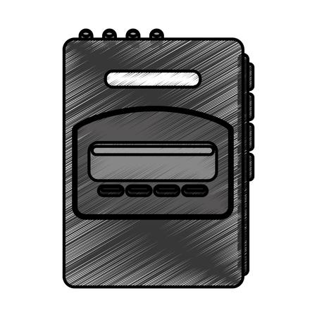 walkman: walkman cassette player icon vector illustration design