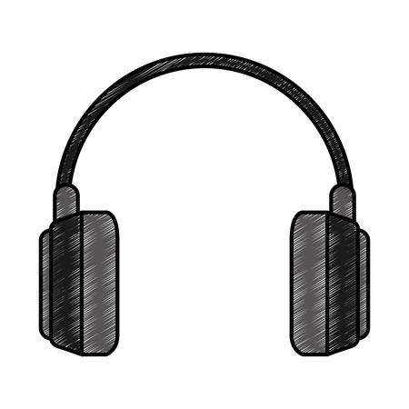 earphones audio isolated icon vector illustration design Illustration