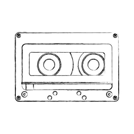 retro cassette isolated icon vector illustration design Иллюстрация