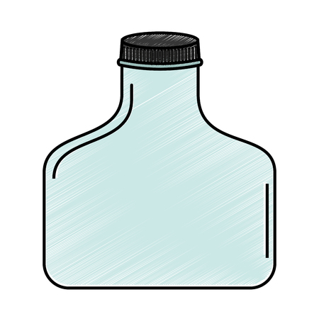 cristal bottle isolated icon vector illustration design