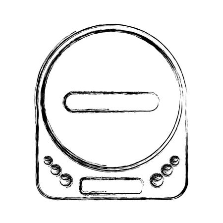 walkman: diskman music player icon vector illustration design
