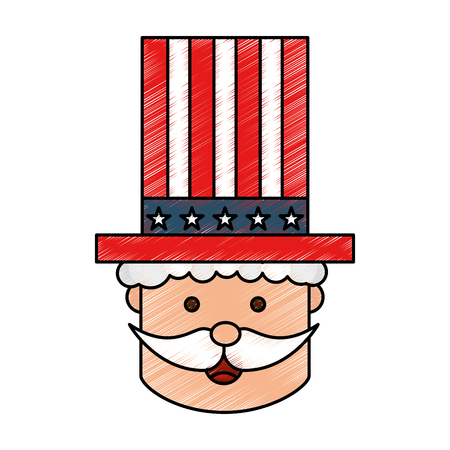 uncle Sam character icon vector illustration design Ilustrace