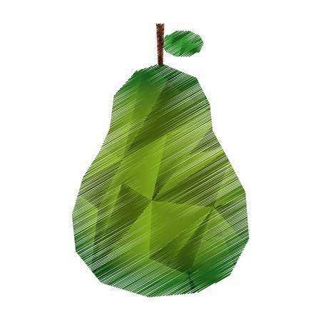 pears: pear fresh fruit icon vector illustration design Illustration