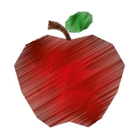 apple fresh fruit icon vector illustration design Illustration