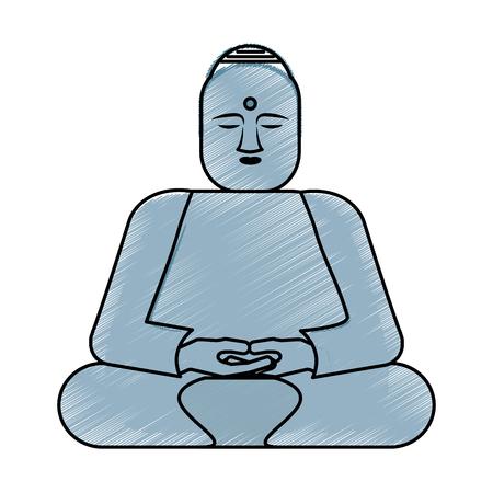 仏像アジア文化ベクトル イラスト デザイン  イラスト・ベクター素材