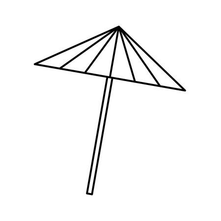 cocktail umbrella isolated icon vector illustration design Ilustrace