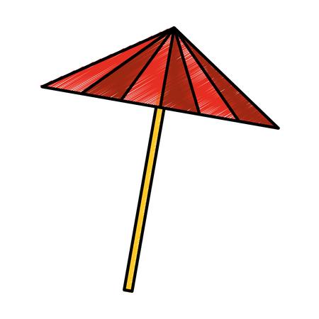 cocktail umbrella isolated icon vector illustration design Reklamní fotografie - 76999868