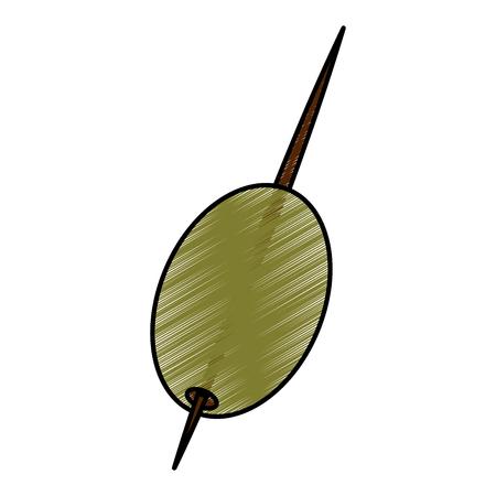 Cocktail olijf geïsoleerd pictogram vector illustratie ontwerp