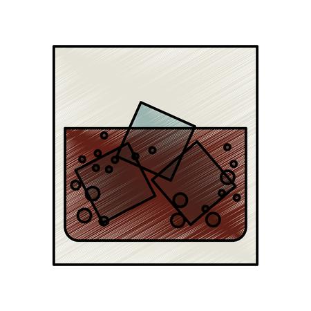 bourbon whisky: Liquor on the rocks vector illustration design
