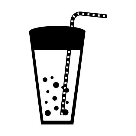 フルーツ ジュース ガラス アイコン ベクトル イラスト デザイン