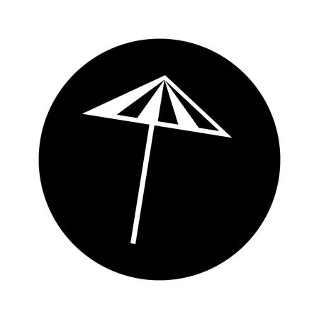 Cocktailparaplu geïsoleerd pictogram vector illustratie ontwerp