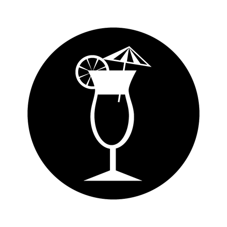 tropical cocktail isolated icon vector illustration design 向量圖像