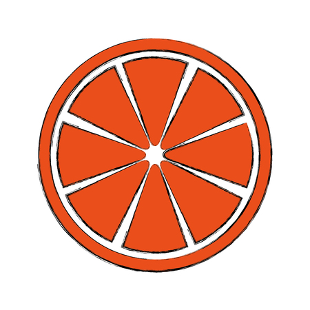 Slice citrus fruit icon vector illustration design Illustration