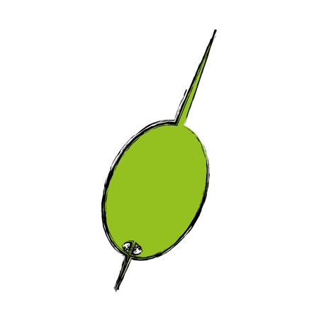 Vector de illustratieontwerp van het cocktailolijf geïsoleerde pictogram