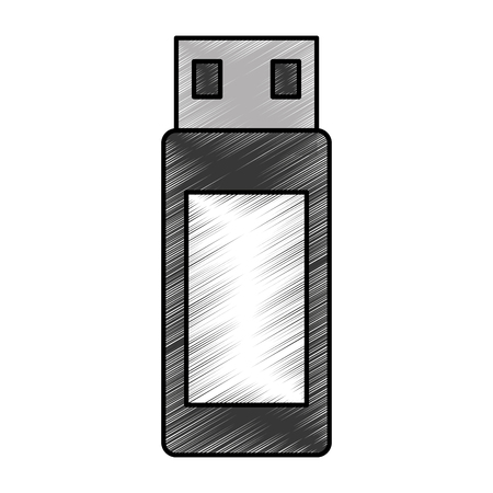 storage device: Usb memory isolated icon vector illustration design
