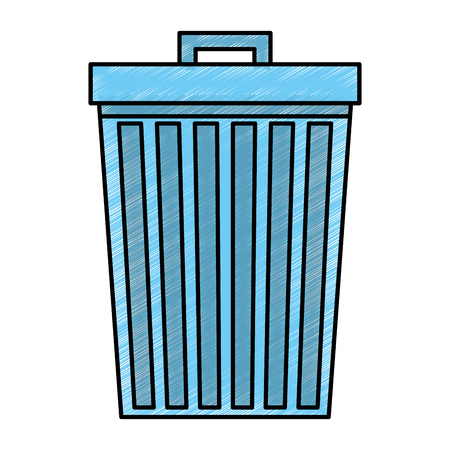 Garbage bin isolated icon vector illustration design Illustration