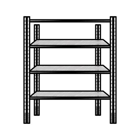 Metal shelf isolated icon vector illustration design