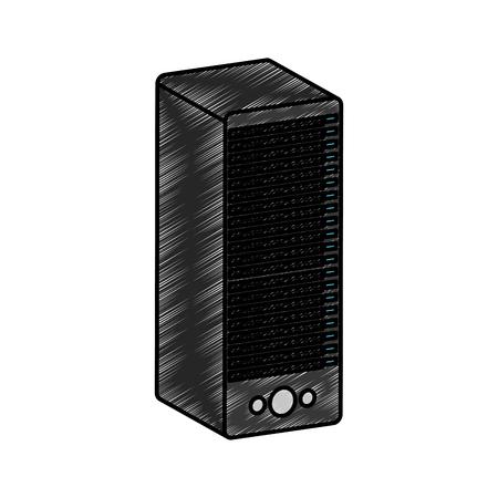 Tower-Server isoliert Symbol Vektor-Illustration Design Standard-Bild - 76772175