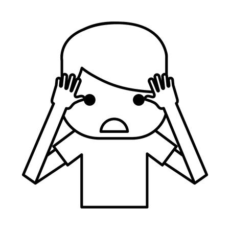 Sad and stressed man vector illustration design Stock Vector - 76774311