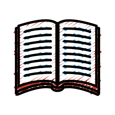 literature: academic book icon over white background. vector illustration