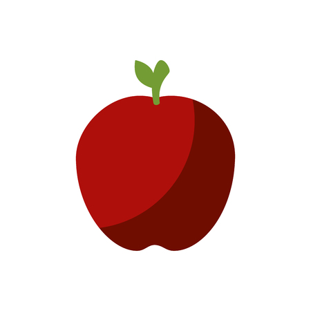 red apple fruit icon over white background. vector illustration