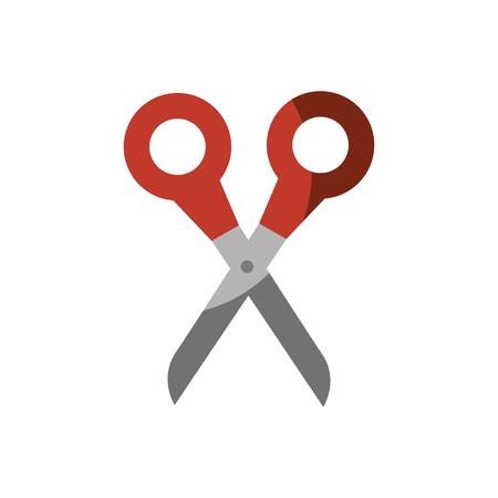 scissor tool icon over white background. colorful design. vector illustration Illustration