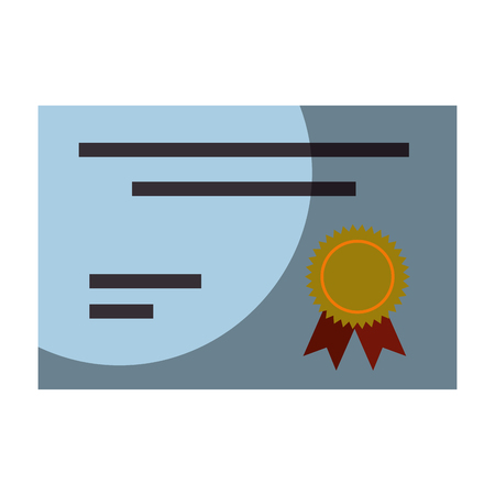 certificate icon over white background. vector illustration