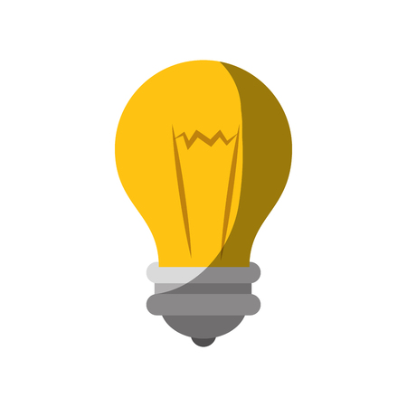 bulb light icon over white background. colorful design. vector illustration