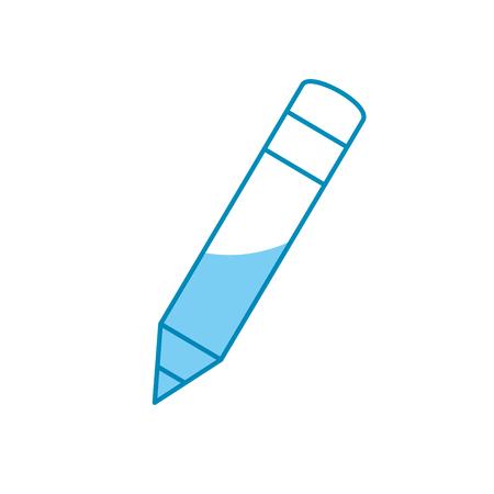 pencil icon over white background. vector illustration