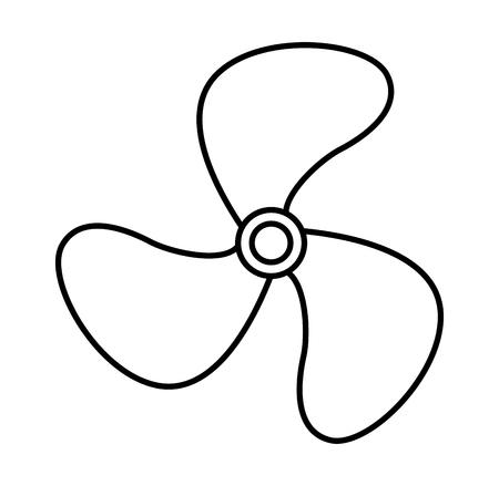 Progettazione dell'illustrazione di vettore dell'icona isolata fan della turbina Archivio Fotografico - 76780549