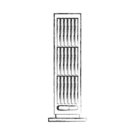 column fan isolated icon vector illustration design