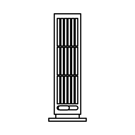 column fan isolated icon vector illustration design