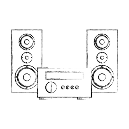 subwoofer: stereo home appliance icon vector illustration design