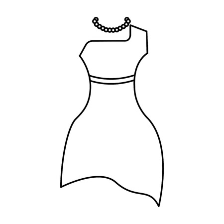 femenine dress elegant icon vector illustration design Ilustração