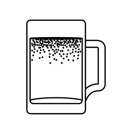 fresh beer in jar isolated icon vector illustration design Çizim