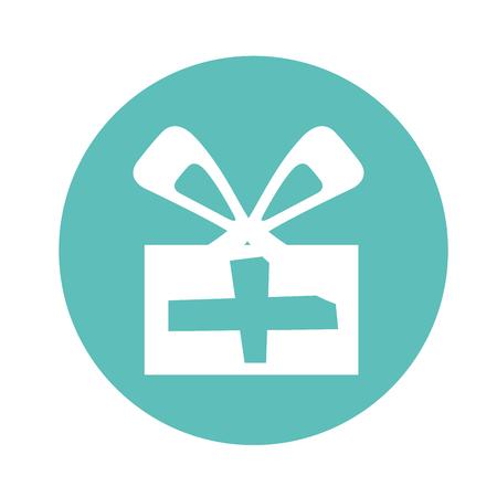 postcard box: gift box present icon vector illustration design Illustration