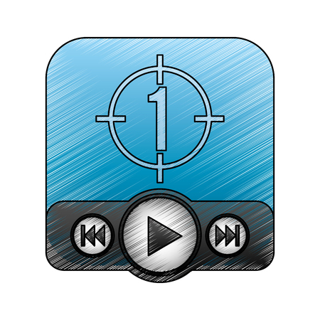 play button recorder icon vector illustration design Ilustrace