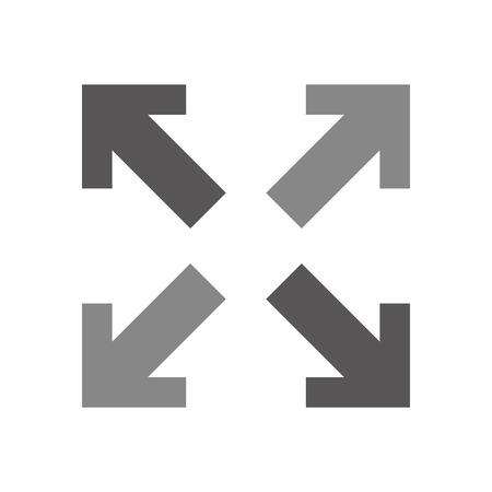 arrows alls directions icon vector illustration design Illustration
