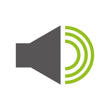 audio speaker interface menu vector illustration design Illustration