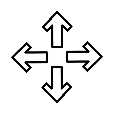 directions icon: arrows alls directions icon vector illustration design Illustration