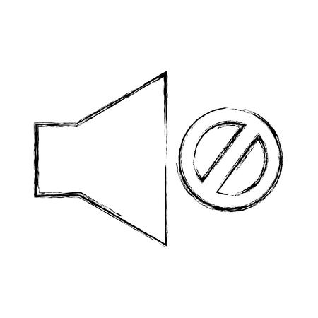 Audio-uit-knop knop vector illustratie ontwerp