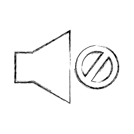 audio off menu button vector illustration design